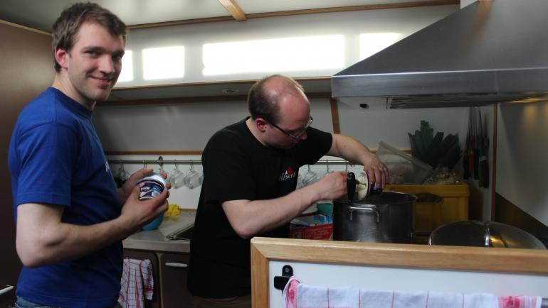 Kochen an Bord